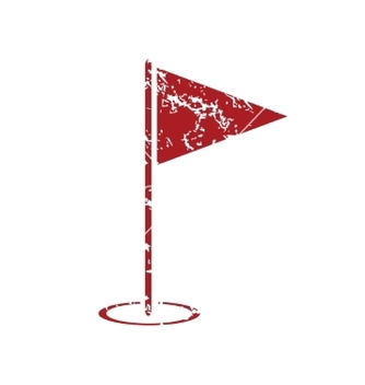 Free flagstick red grunge icon vector - Free vector #234557