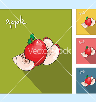 Free icons with apples vector - vector #234567 gratis