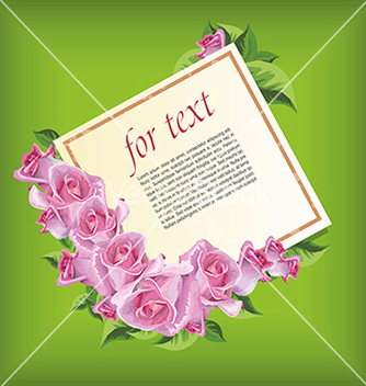 Free card for text with roses vector - Free vector #234677