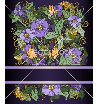 Free floral background hand drawn retro flowers vector - Free vector #234777