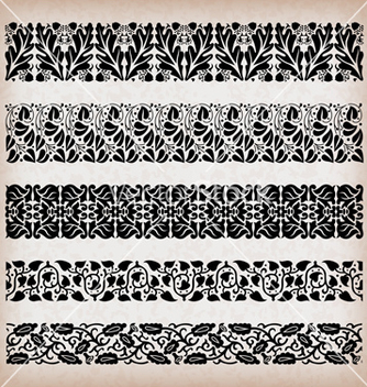 Free decorative vintage borders vector - vector gratuit #234837