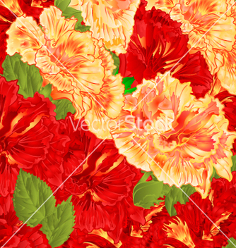 Free red and yellow flowering shrub floral background vector - vector gratuit #234847