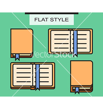 Free set of notebooks in flat style with shadows vector - vector gratuit #234887