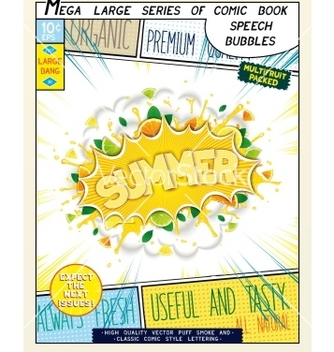 Free realistic bright speech bubble with fruits vector - vector #235117 gratis