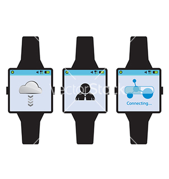Free new generation smart watch concept vector - бесплатный vector #235297