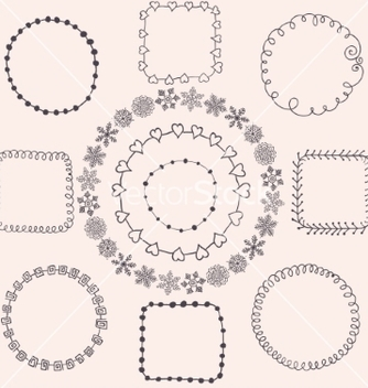 Free handsketched doodle frames design elements vector - Free vector #235317