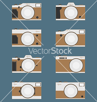 Free set of vintage camera flat design vector - Kostenloses vector #235357