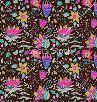 Free abstract elegance seamless floral pattern on a vector - vector #235587 gratis
