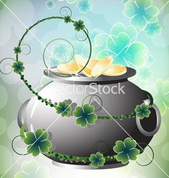 Free pot of gold coins vector - Free vector #235677