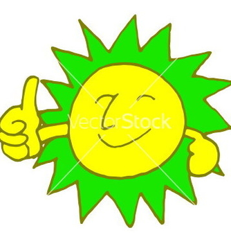 Free sun smile with color vector - vector gratuit #235707