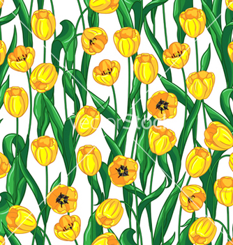 Free yellow tulips pattern vector - Free vector #235767