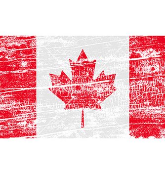 Free flag of canada with old texture vector - бесплатный vector #235817