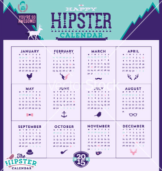 Free simple 2015 calendar vector - vector gratuit #235907
