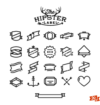Free hipster label stuff part one vector - vector #235917 gratis