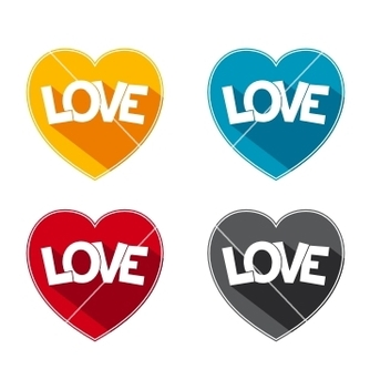 Free flat icon love vector - бесплатный vector #235987