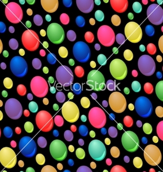 Free seamless pattern of colorful drops vector - vector #236167 gratis