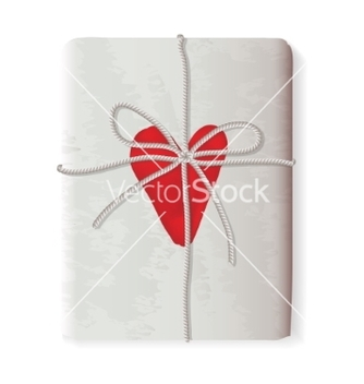 Free sending heart tied with a rope vector - Kostenloses vector #236207
