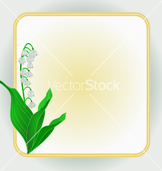 Free lily of the valley spring flower background frame vector - vector gratuit #236227