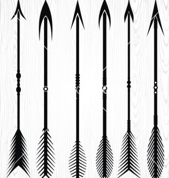 Free arrow silhouettes vector - Free vector #236247