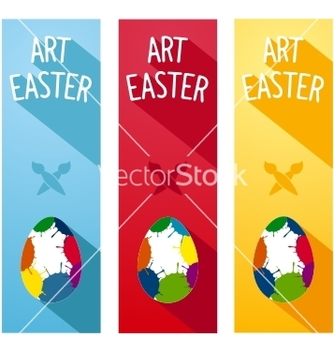 Free art easter concept flyer vector - бесплатный vector #236287