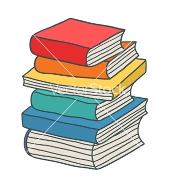 Free cartoon hand drawn stack of books vector - бесплатный vector #236347
