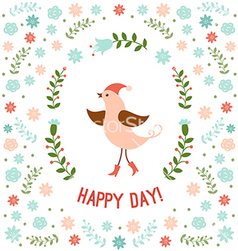 Free cute little bird vector - vector gratuit #236397