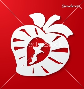 Free background with strawberries vector - vector gratuit #236477