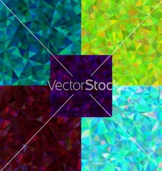 Free set of abstract polygonal background vector - Free vector #236487