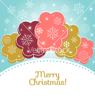 Free merry christmas card vector - бесплатный vector #236667