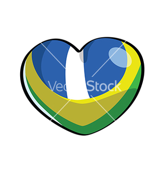 Free brazilian heart color sample vector - Free vector #236717