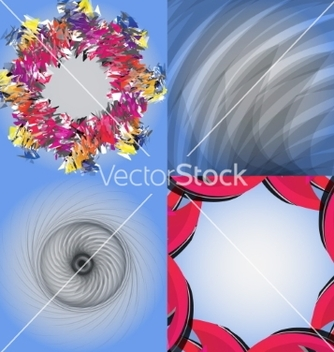 Free set of abstract modern wave colorful background vector - Free vector #236737