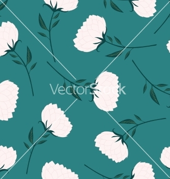 Free abstract lotus seamless pattern green background vector - бесплатный vector #236797