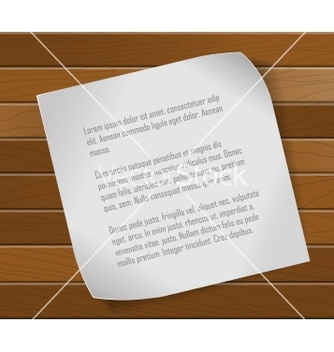 Free paper sheet over wooden background vector - Kostenloses vector #236827