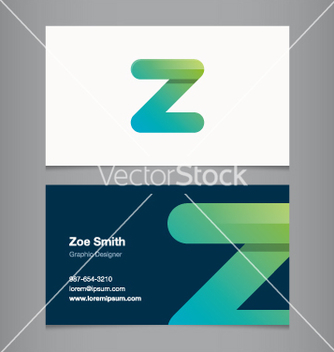 Free business card letter z vector - vector gratuit #236847