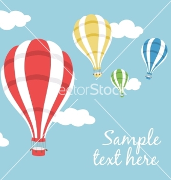 Free three hot air balloons vector - Free vector #236857