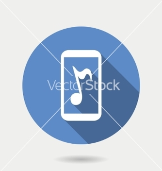 Free mobile gadget icon mobile with musical note in vector - vector #236907 gratis
