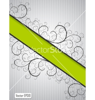 Free abstract floral background with green copyspace vector - бесплатный vector #236927