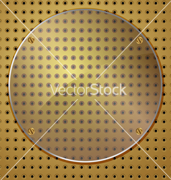 Free circle on gold vector - vector gratuit #236947
