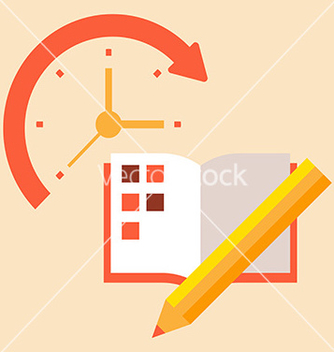 Free time poanirvoat case to schedule and timetable vector - Kostenloses vector #236997