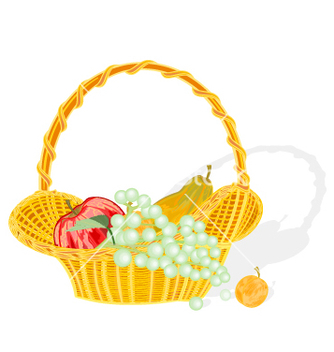 Free fruit basket vector - Free vector #237257