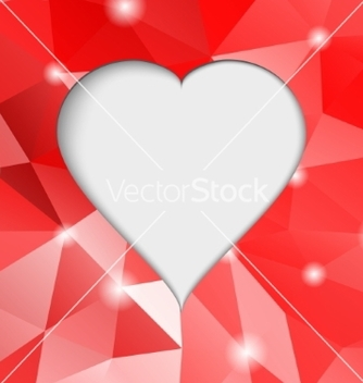 Free valentines day modern abstract background with red vector - Free vector #237297