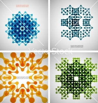 Free set of colored tech patterns vector - Free vector #237467