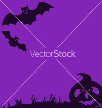 Free halloween background with pumpkin and bats vector - Free vector #237497