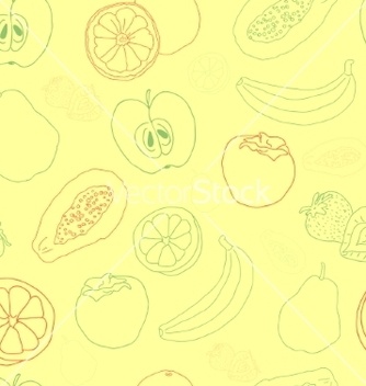 Free exotic fruit seamless pattern vector - Kostenloses vector #237527