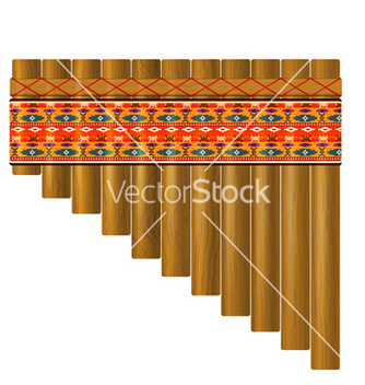 Free realistic portrayal of the pan flute vector - Kostenloses vector #237557