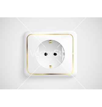 Free white socket with ground vector - vector gratuit #237577