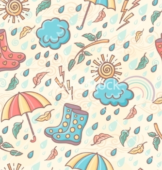 Free seamless weather pattern vector - Free vector #237637