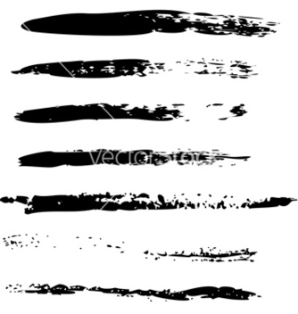 Free black brush strokes2 vector - vector #237687 gratis