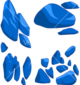 Free blue rock vector - Free vector #237737