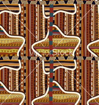 Free seamless with geometric stars in the african style vector - бесплатный vector #237777